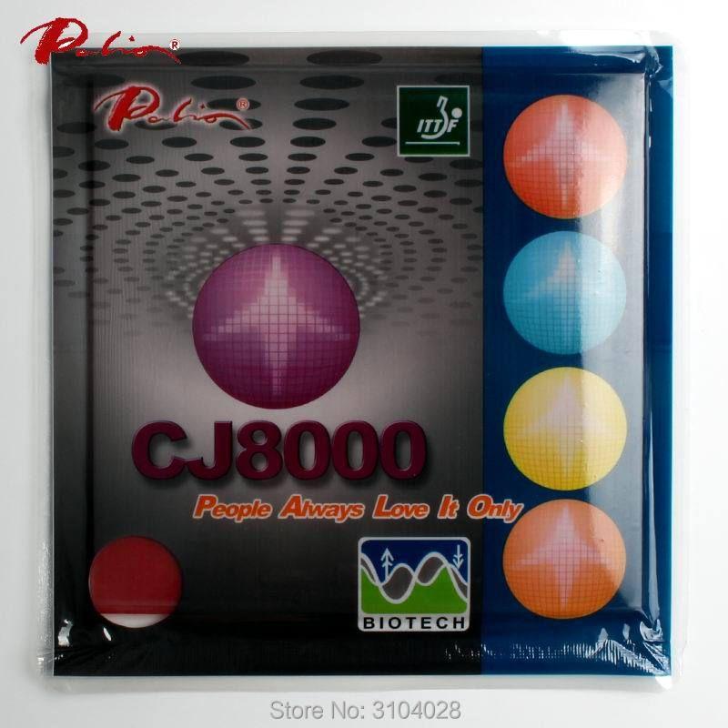 Palio CJ8000 officiel à long terme 36-38 tennis de table en caoutchouc BIOTECH technilogy rapide attaque avec autocollantes tennis de table raquette