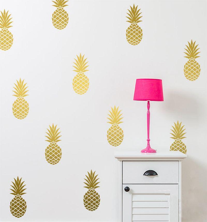 Amovible ananas stickers muraux, Grand 12 ananas autocollant de mur de crèche Decal décor de partie livraison gratuite