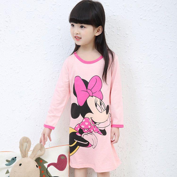 3-11Y New 2017 Autumn & Winter Style Girl Nightgown Children Cloth Girls Sleepwear Kids Girls Princess Girl Home Clothing