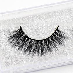Mink lashes 3D Mink Eyelashes cruelty free natural false eyelashes volume Lashes  Real Mink Fur Handmade Crossing Thick Lash D06