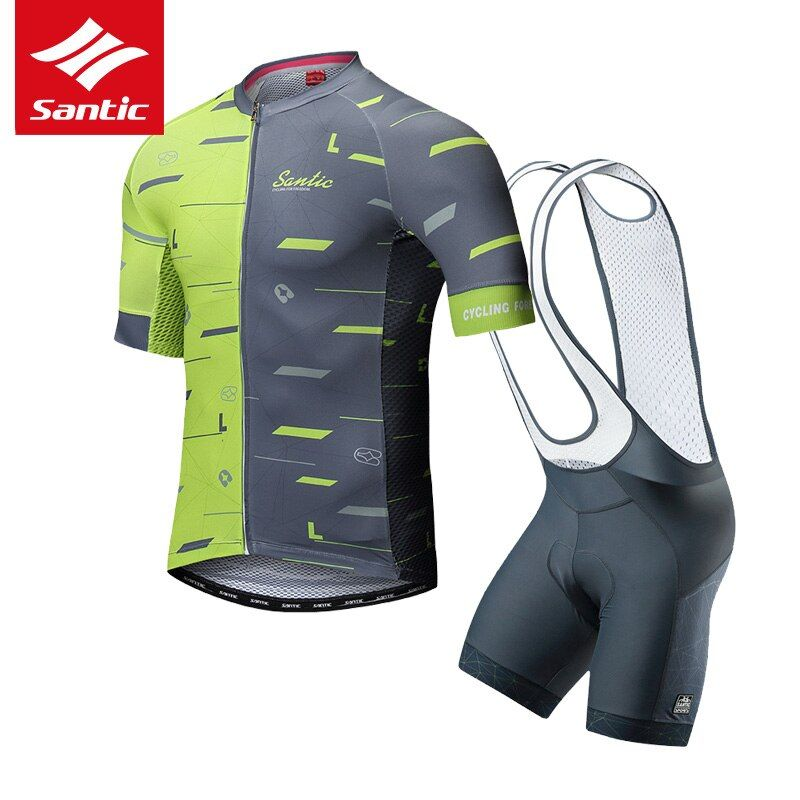 Santic 2018 Cycling Jersey Set Mens Pro Team Tour de France Cycling Set Triathlon Cycling Skinsuit Men Summer Bike Clothing Set