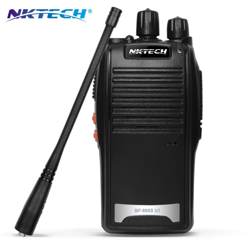 2 unids nktech Walkie-talkies dos vías Radios bf-888s U1 UHF 400-470 MHz 16 canales 5 W jamón transceptor auricular
