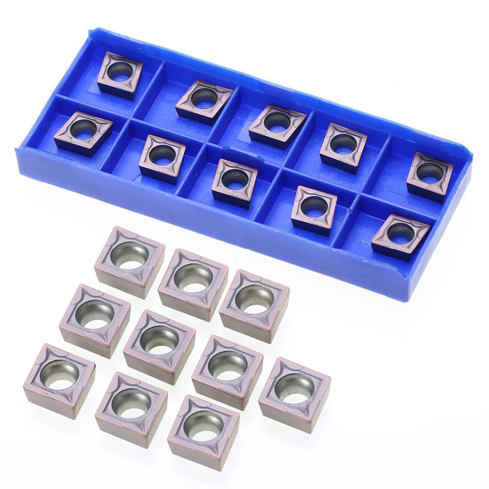 10 stücke CCMT09T304 VP15TF Wendeschneidplatten Qualität Legen mit Box Mayitr Für Drehwerkzeug