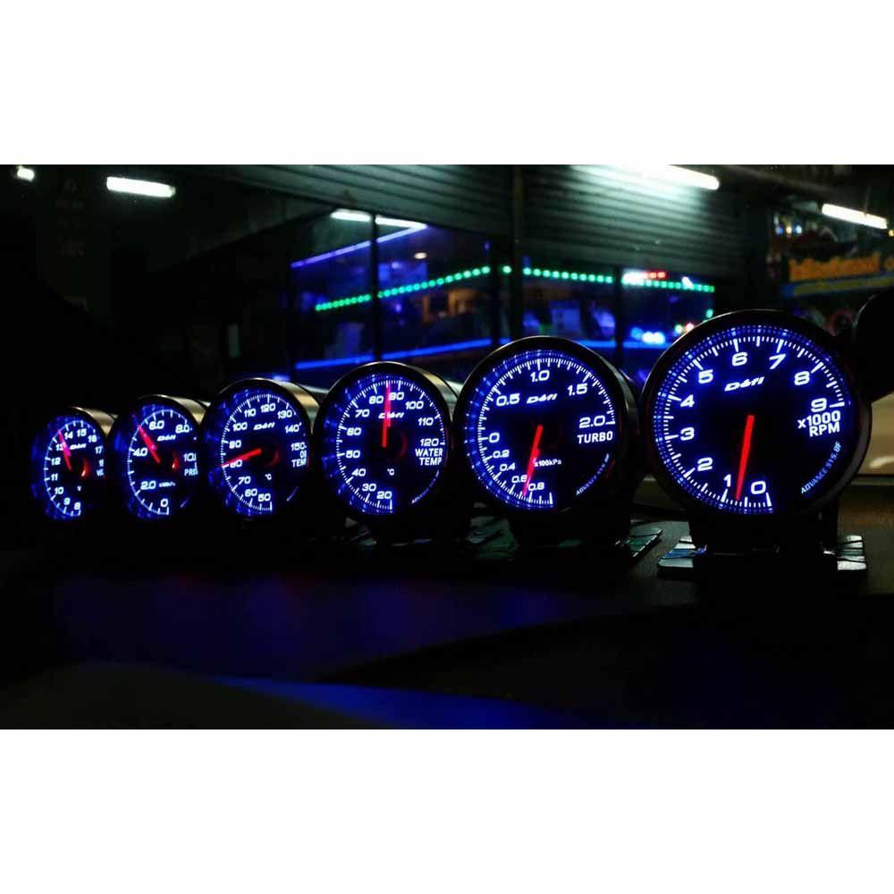 Defi Advance BF CR C2 RS 2.5 Inch 7 Colors Daisy Chain Auto Gauge mete Water Temp Oil Temp Oil Press Tachometer RPM Turbo Boost