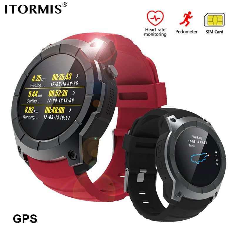 ITORMIS Bluetooth GPS Smart Watch SmartWatch Phone Watch Sports Support SIM TF Card Heart Rate Fitness Tracker for Android IOS