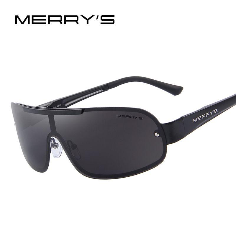 MERRY'S Männer Klassische Marke Sonnenbrille HD Polarisierte Gläser männer Integrierte Brillen Sonnenbrille S'8616