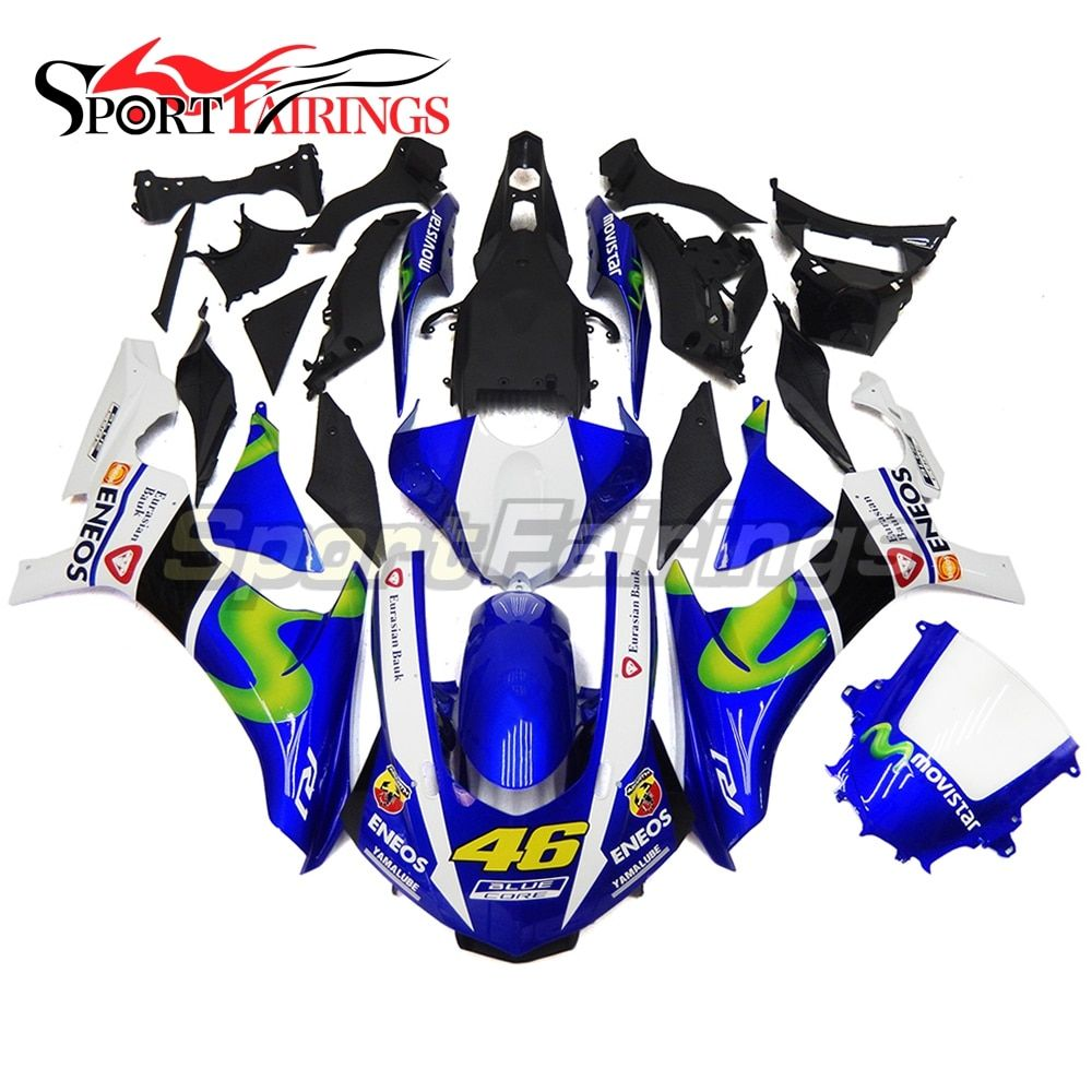 ENEOS 46 Blue Injection Fairings For Yamaha YZF R1 2015 2016 Complete ABS Plastic Motorcycle Fairing Kit Body Kits Bodyworks New
