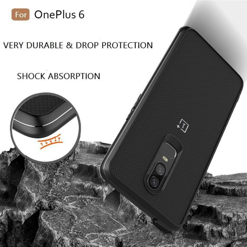 for OnePlus 6 Case Frosted Shield Sandstone Plastic Nylon Karbon Back Cover Case for OnePlus 6 5T One Plus 5 3 A3000 Protector
