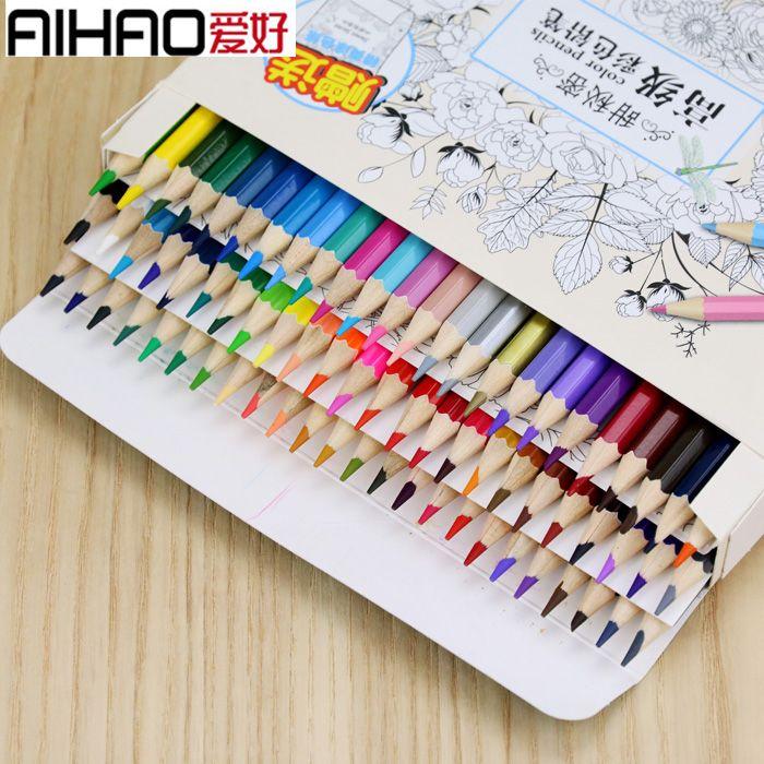 Aihao 48/72 crayons de couleur à l'huile dessiner écrire des crayons école et bureau étudiant fournitures de papeterie