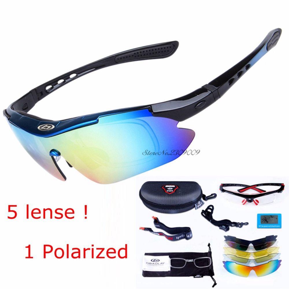 5 lentilles lunettes de sport tactique polarisé hommes lunettes de tir airsoft lunettes myopie pour camping randonnée cyclisme lunettes