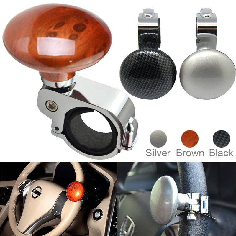 New Car Steering Wheel Knob Ball Hand Control Power Handle Grip Spinner Silver Strengthener Auto Spinner Knob Auxiliary Booster