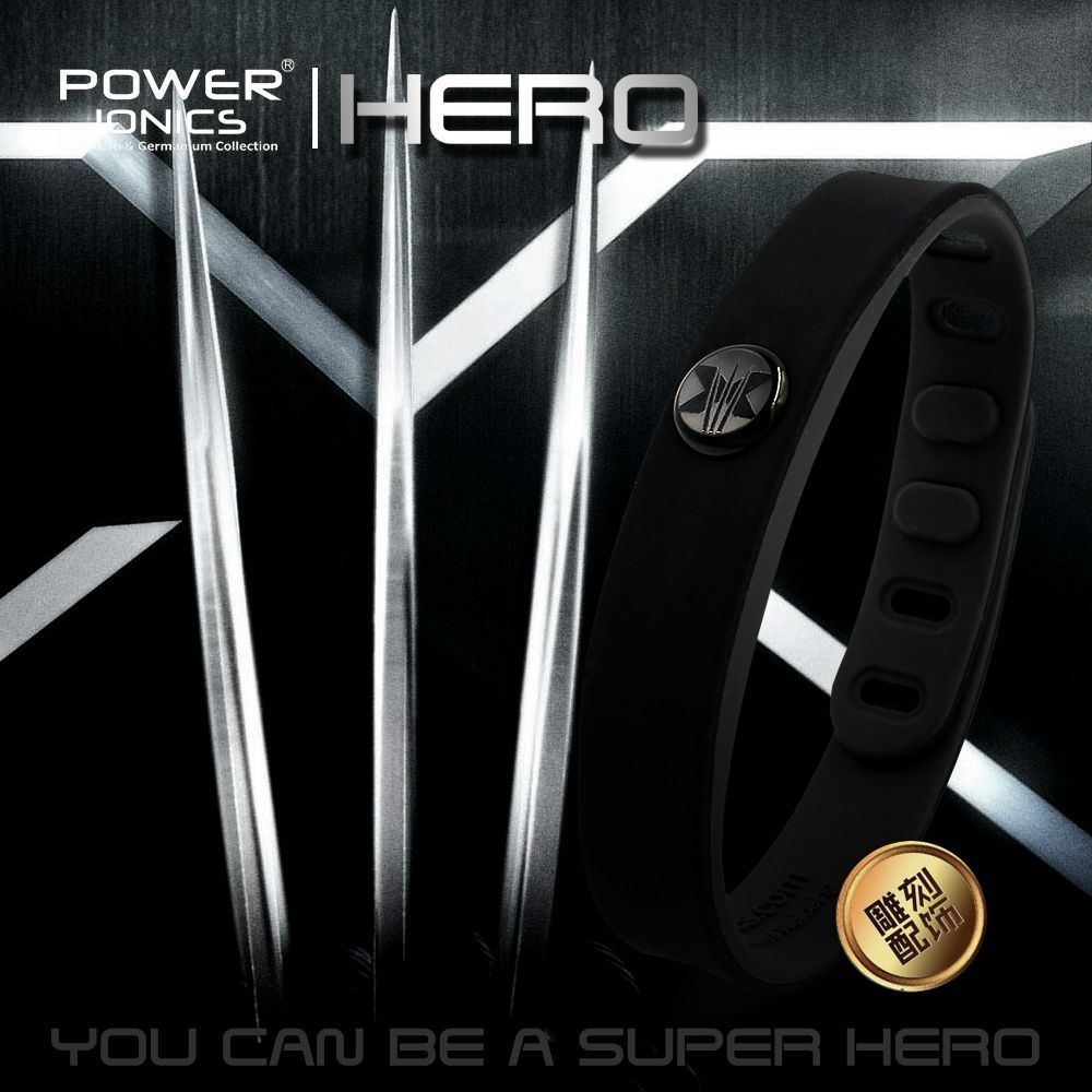 Hero Wolverine Power Ionics 3000 ions IDEA BAND Sports Titanium Bracelet Wristband Balance Human Body