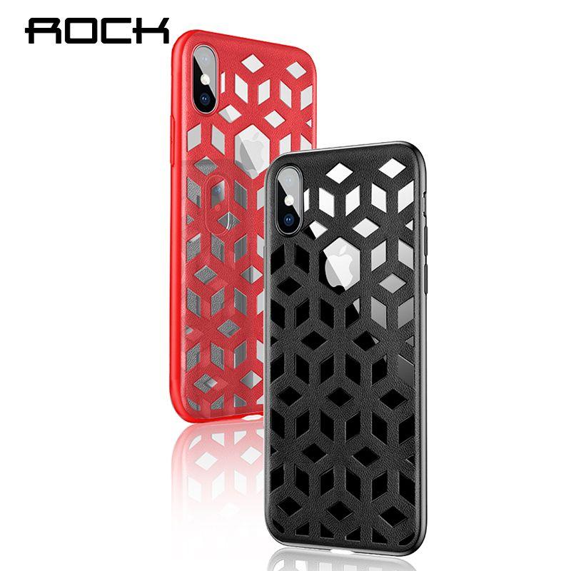 ROCK Anti-knock Fall für iphone 7 8 X Hohl Wärmeableitung Abdeckung Chinesischen Stil Stoßfest Zurück Capa für iphone 7 plus 8 Plus