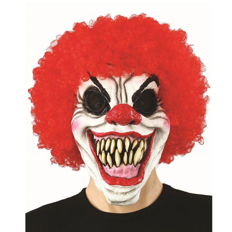 X-MERRY продажи зло страшно цирковой клоун маска мелочиться латекс клоун Хэллоуин Ужасы маскарадный костюм аксессуар
