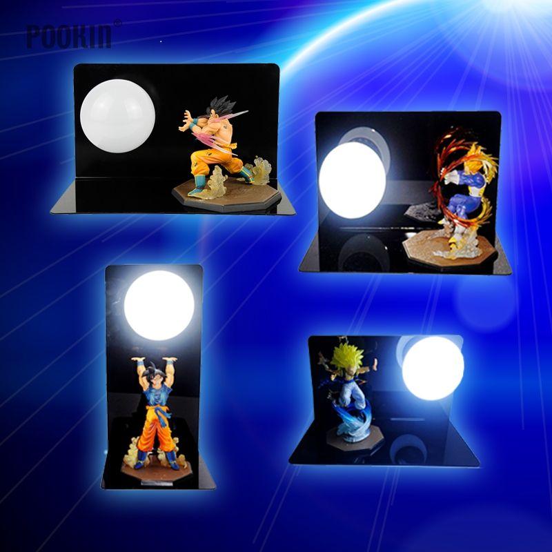 Новый Dragon Ball Сон Гоку прочность бомбы Luminaria LED ночь настольная лампа сувениры номер декоративные светодиодные Освещение в ЕС США Plug
