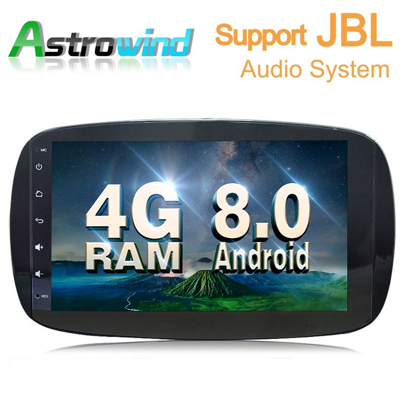 9 inch Car GPS Navigation System Stereo Media Auto Radio for Mercedes Benz Smart Fortwo C453 A453 W453 2015 2016 2017 2018 JBL