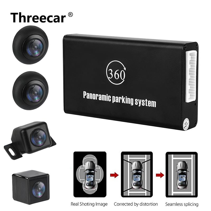 Panoramic Rearview Camera 360 Degree Parking System Auto Car Camera All Round Night Vision Waterproof Reverse Camera De Recul