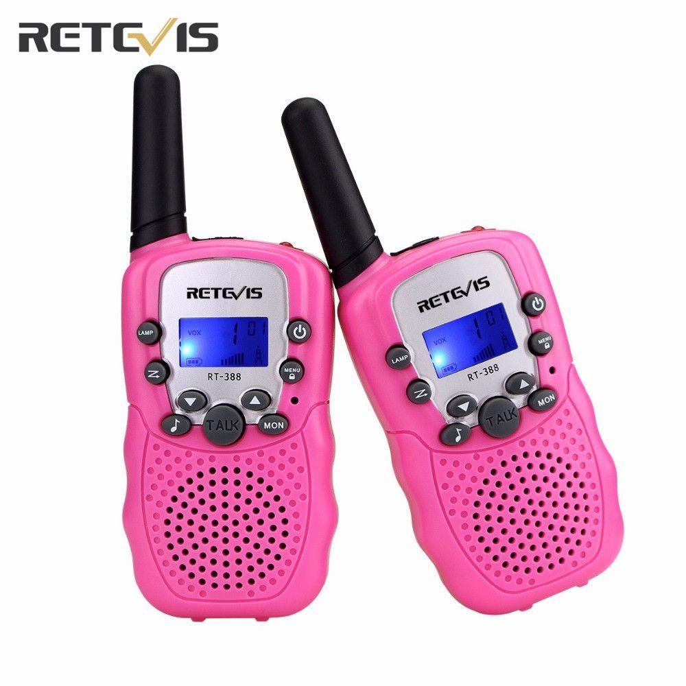 2 pcs US Frequency Mini Walkie Talkie Retevis RT388 Portable Radio Set Kids Radio 0.5W Two Way Radio Communicator 5 Colors A7027