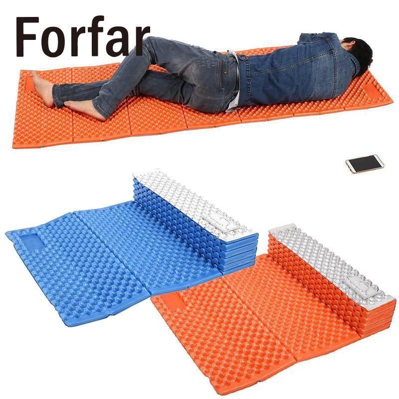 Forfar Picnic Mat Portable Outdoor Beach Mat Moistureproof Camping Mattress Sleeping Pad Folding Egg Slot Yoga Mat IXPE+EVA