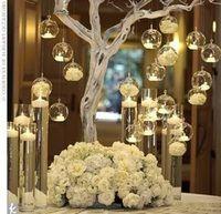 12 piezas marca colgante candelita titular de vela de vidrio de globos terrario boda gráfico florero casa Hotel Bar Decoración