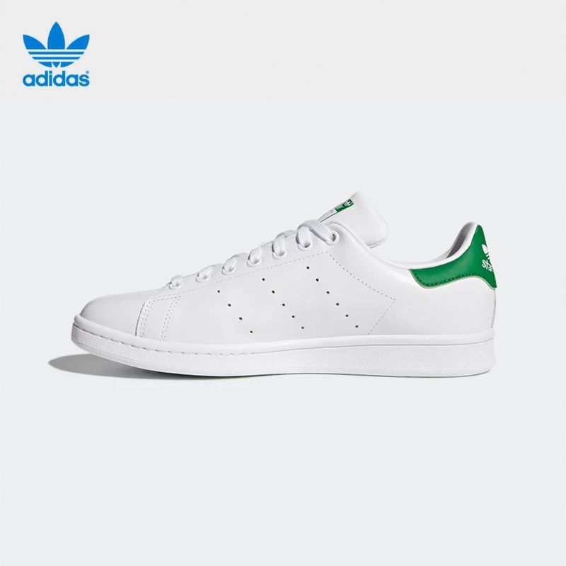 Authentic Adidas STAN SMITH Shoes Originals Series Summer Lace-up Men Skateboarding Shoes Low-top PU Adidas Sports <font><b>Sneakers</b></font> Men
