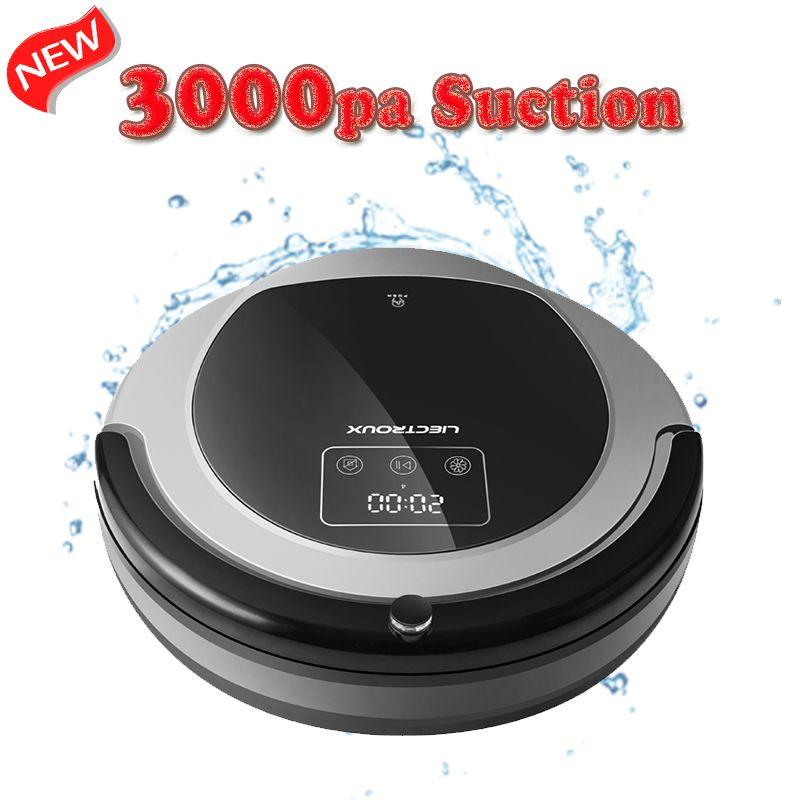 (FBA)LIECTROUX Robot Vacuum Cleaner B6009,Map Navigation,Smart Memory,Suction 3000pa,<font><b>Dual</b></font> UV Lamp, Wet Dry Mop,Robot aspirador