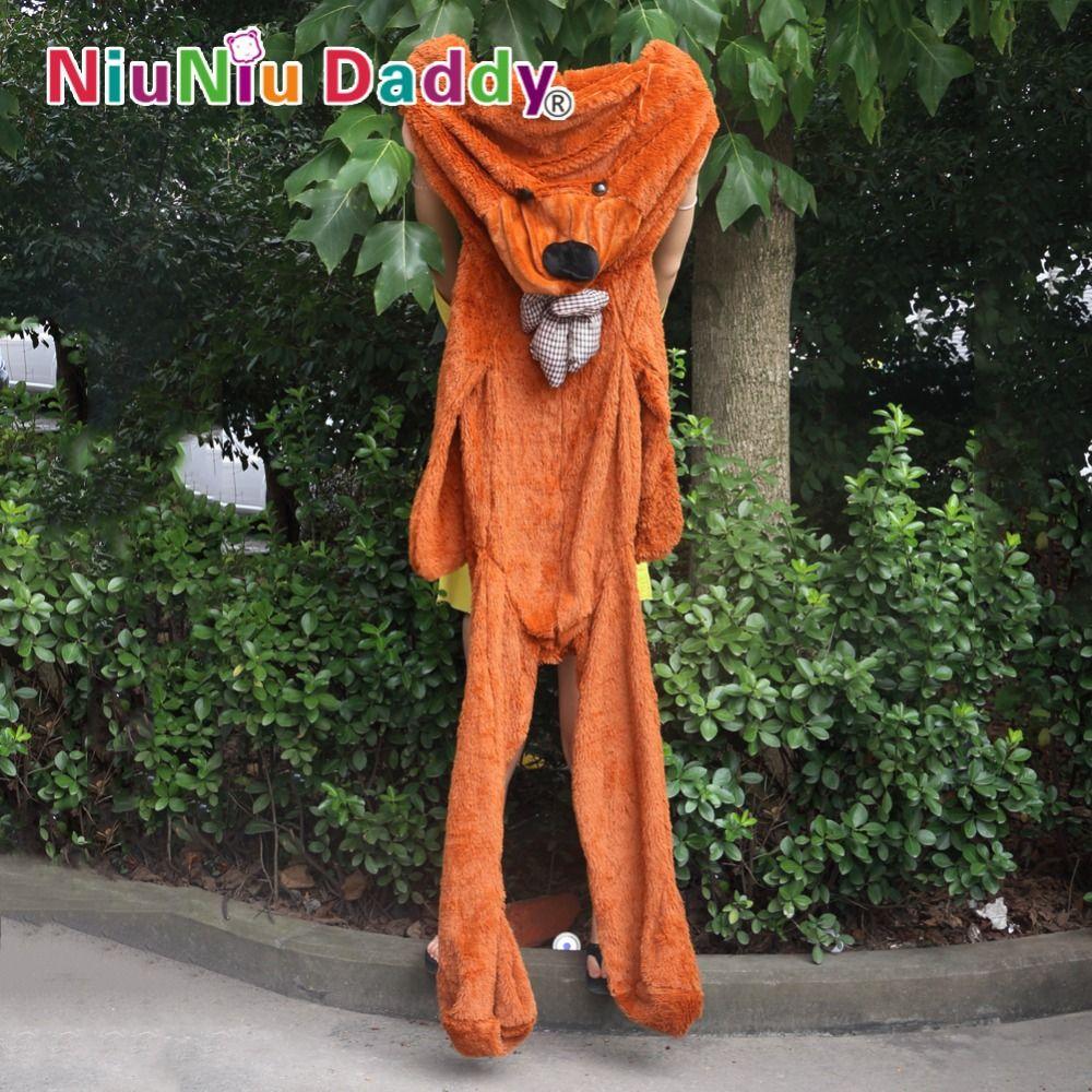 Niuniudad peluche en peau d'ours en peluche poupées ours Semi-fini en peau d'ours jouets 300 cm