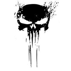 10 cm x 15 cm Punisher cráneo sangre etiquetas del coche del vinilo Adhesivos motocicletas decoración negro/plata c1-3140
