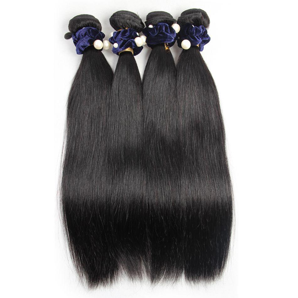Vip beauty Peruvian straight hair bundles non remy human hair bundles hair extensions 4 bundles/lot