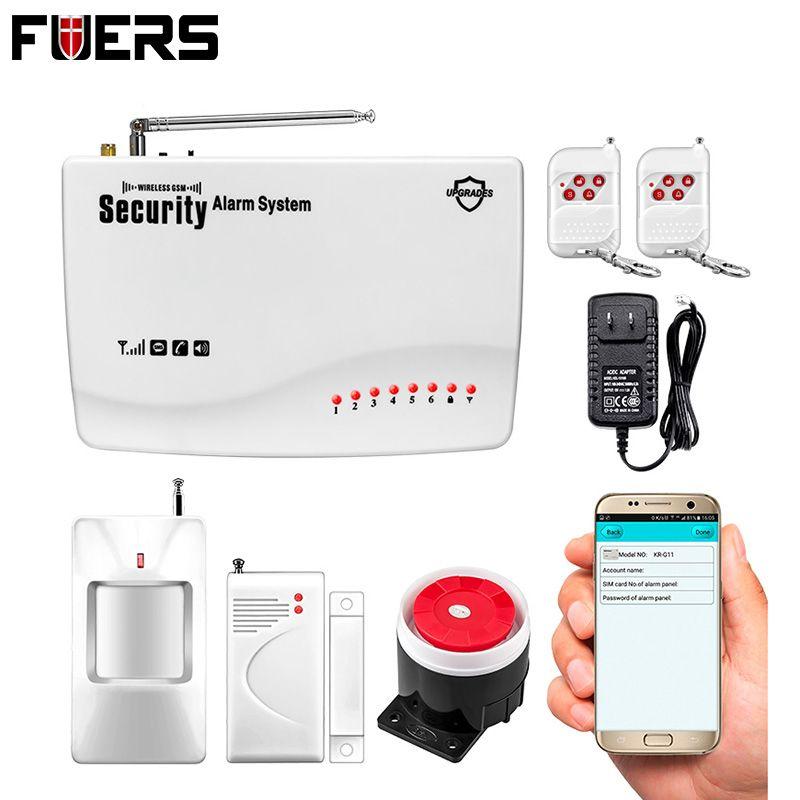 APP IOS/Android télécommande bras/désarmer sans fil/filaire Quad 4 bandes GSM maison cambrioleur automatique système d'alarme de sécurité vocale