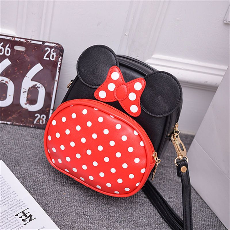 PU leather polka dot cute cartoon coin purses small change bags mini crossbody pouch bag bolsos mujer bolsas feminina for girls
