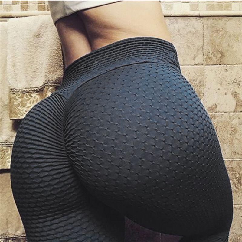 Ruching push up leggings pour vêtements de fitness 2018 musculation sexy legging sportswear athloisir noir pantalons pour femmes