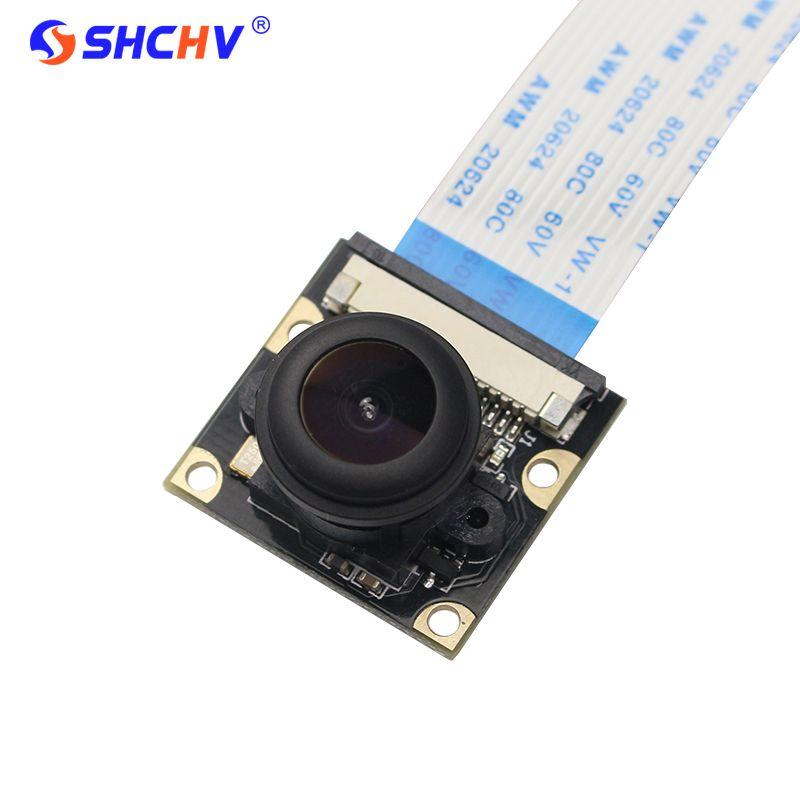 Raspberry Pi 4 modèle B caméra Vision nocturne grand Angle Fisheye 5M Pixel 1080P caméra Compatible Raspberry Pi 3 modèle B/B +