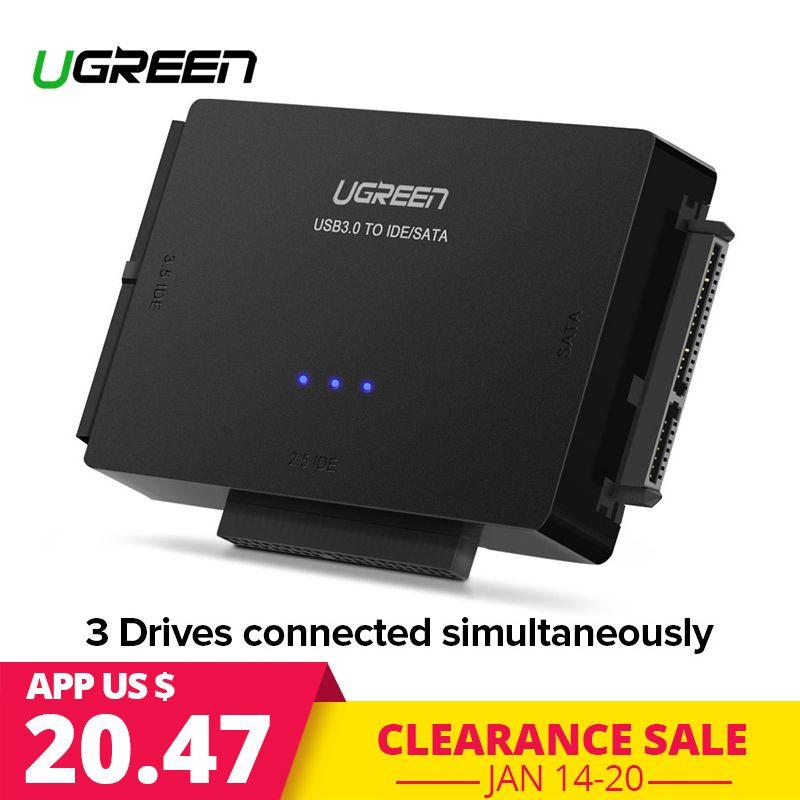 Ugreen SATA to USB IDE Adapter USB 3.0 2.0 Sata 3 Cable for 2.5 3.5 Hard Disk Drive HDD SSD USB Converter IDE SATA Adapter