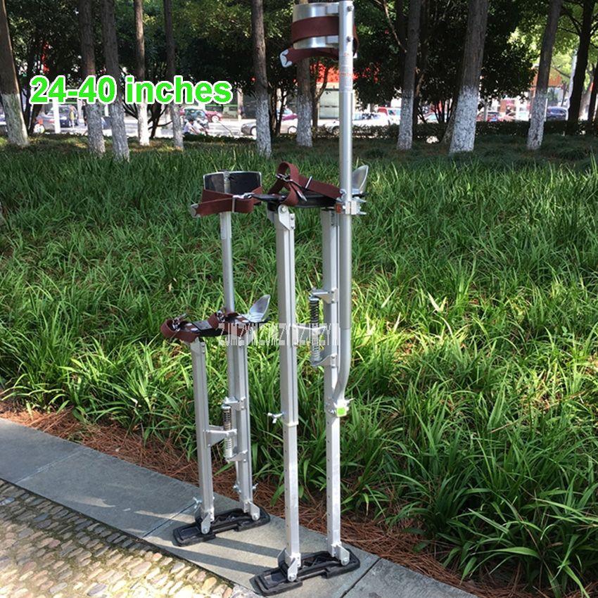Neue 24 -40 Einstellbar Professionelle Aluminium Verputzen Stelzen Leiter Trockenbau Plaste Stelzen Bühne Requisiten Innen Dekoration Stehen