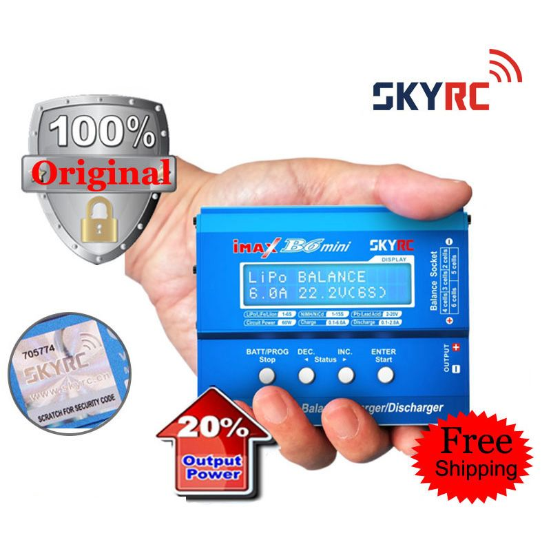 60W SKYRC iMAX B6 Mini Original Balance Charger / Discharger for RC Battery Charging with Cooling Fan and PC link