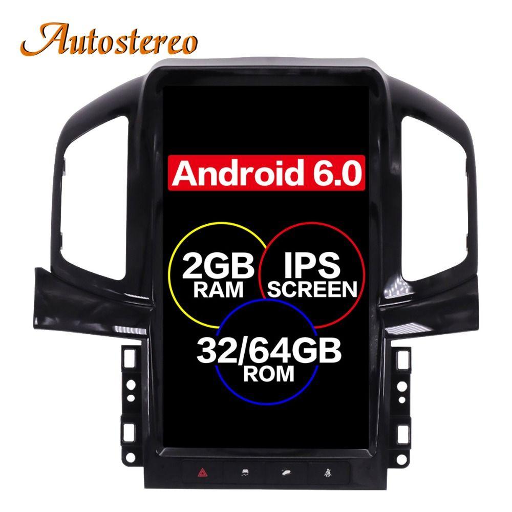 Android 6.0 Tesla stil Auto Keine DVD-Spieler GPS-Navigation Für Chevrolet Captiva 2013 2014 2015 2016 2017 steuergerät multimedia plus