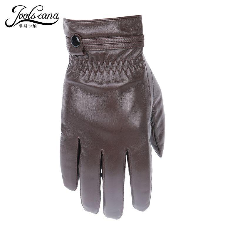 JOOLSCANA gants en cuir pour hommes hiver automne mode gants sensoriels en peau de mouton d'agneau naturel importé italien