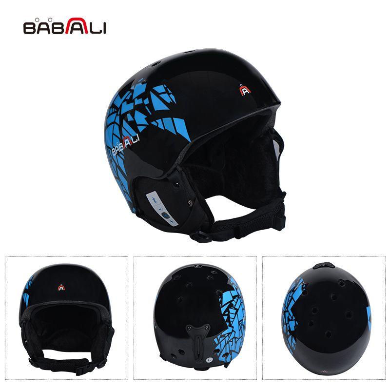 BABAALI musik Skifahren Helm Männer Frauen PC/EPS Ski Helm Bluetooth Technologie Outdoor Sport Snowboard Helme