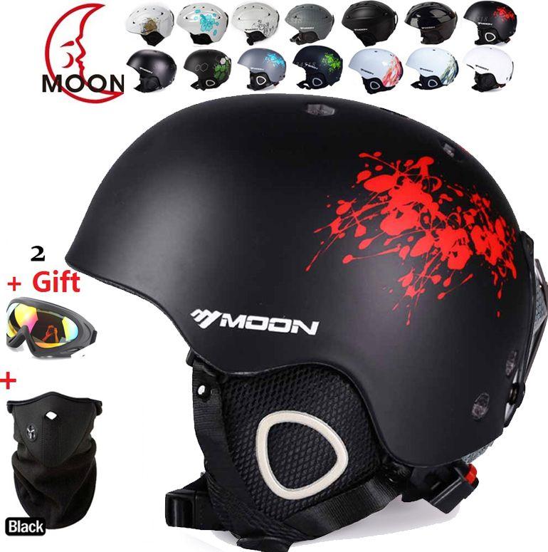 MOON Skateboard Ski Snowboard Helmet Integrally-molded Ultralight Breathable Ski Helmet CE Certification Cheap for sale