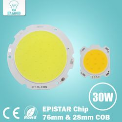 10 unids 3 W 5 W 7 W 10 W 12 W 15 W 20 W 25 W 30 W COB LED chip Diodos superficie de la bombilla led calle lámpara LED