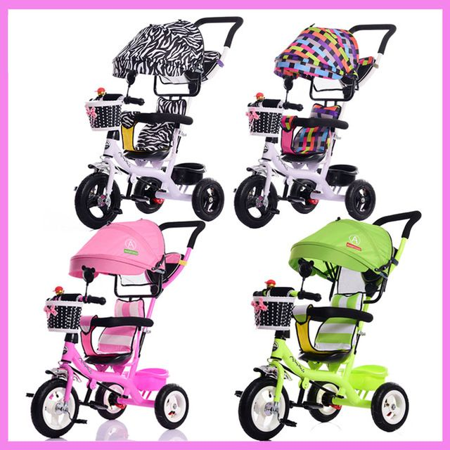 Portable Baby Toddle Child Tricycle Bike Trolley Stroller Removable To Wash Transformer Tricycle Pushchair Pram Bicycle 12M~6Y