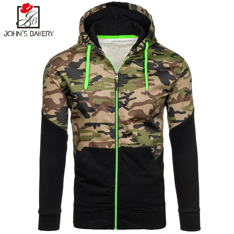 John'S Bakery 2017 New Fashion Hoodies Brand Men Camouflage Sweatshirt Malemen'S Sportswear Hoody Hip Hop Autumn Winter Hoodie 0
