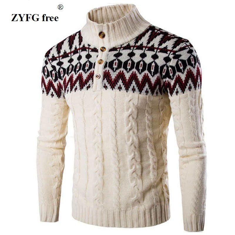 2018 Nouveaux hommes casual pull automne marque de mode col debout rayé Mince tricot loisirs Urbains pull tricots Pour Hommes