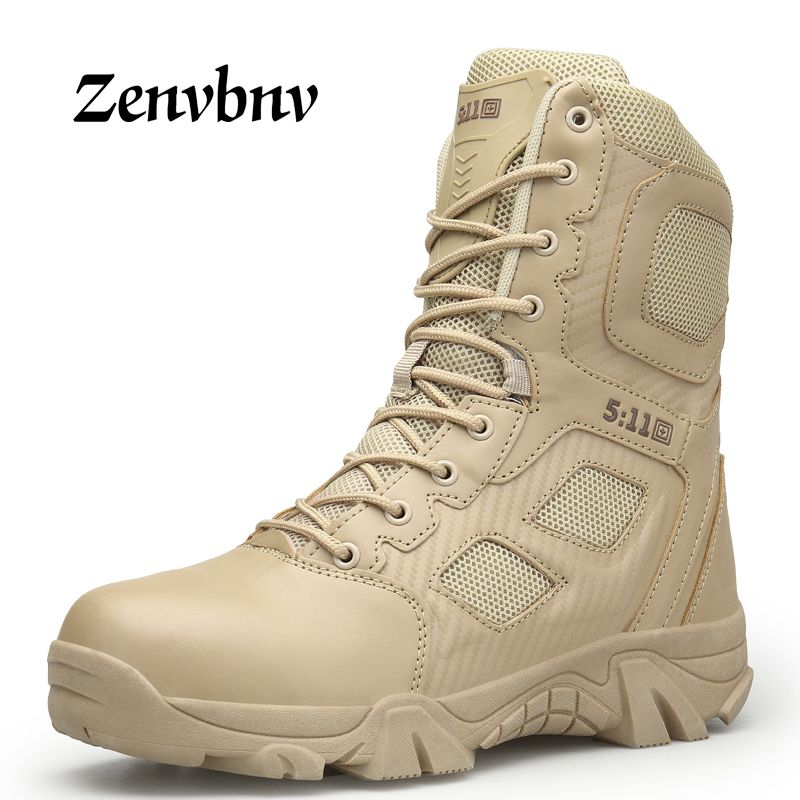 ZENVBNV Men Desert Tactical Military Boots Mens Work Safty Shoes SWAT <font><b>Army</b></font> Boot Militares Tacticos Zapatos Ankle Combat Boots