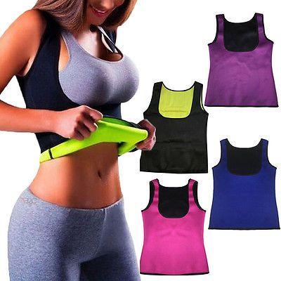 2019 Women Hot Neoprene Body Shapers Slimming Waist Slim Sportswear Vest Underbust Plus Size S M L XL XXL Black Rose Blue Purple