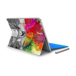 Gooyiyo-untuk Surface Pro 4 5 Vinyl Kembali Penuh Stiker Tablet Netbook Ultrabook Lukisan Stiker Kiri dan Otak Kanan kulit LOGO Cut