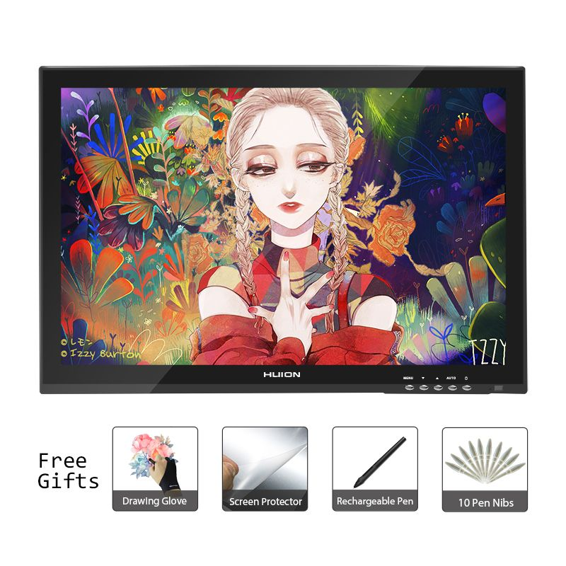 Huion GT-190 18.95inch Professtional Pen Tablet Monitor Art Graphics Drawing Pen Display Monitor with Free Gifts