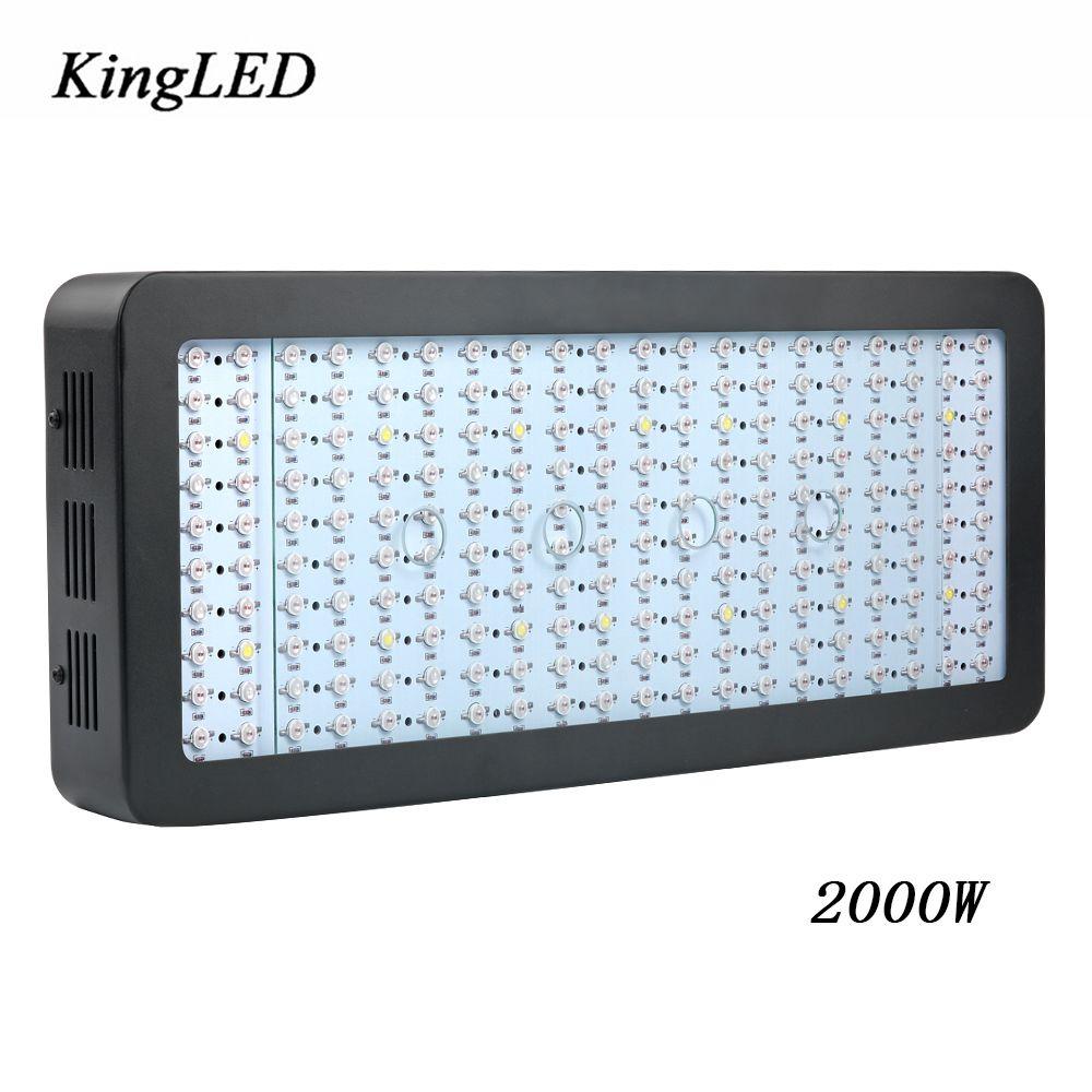 1 stück KingLED 2000 Watt LED Wachsen Licht Leistungsstarke Gesamte Spektrum LED Wachsen Licht für Innen Wachsen Zelt Aquarium Wachsen Blitz anlage