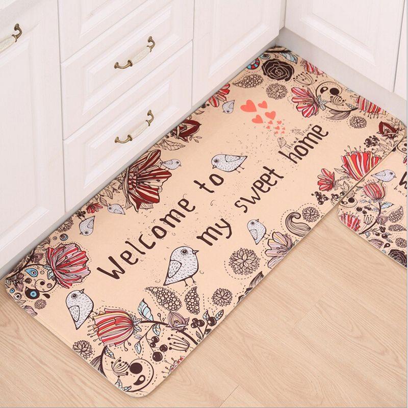 Doormat Non-Slip Kitchen Living Room Carpet/Bath Mat Home Entrance Floor Mat Hallway Area Rugs Kitchen Mat Home 10Style